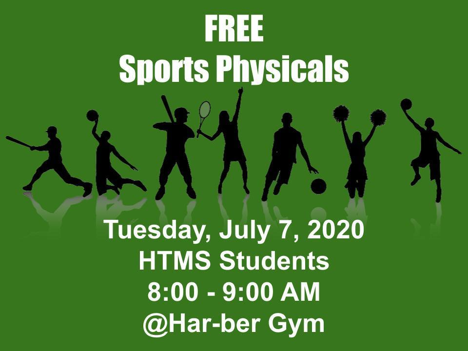 Free Sports Physicals, July 7