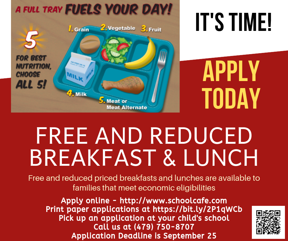 Free and Reduced Breakfast & Lunch Flyer