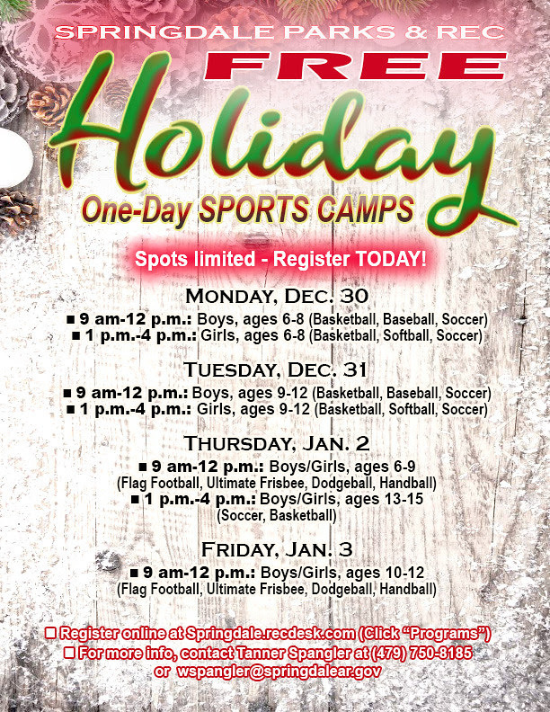 Holiday Sports Camp Flyer