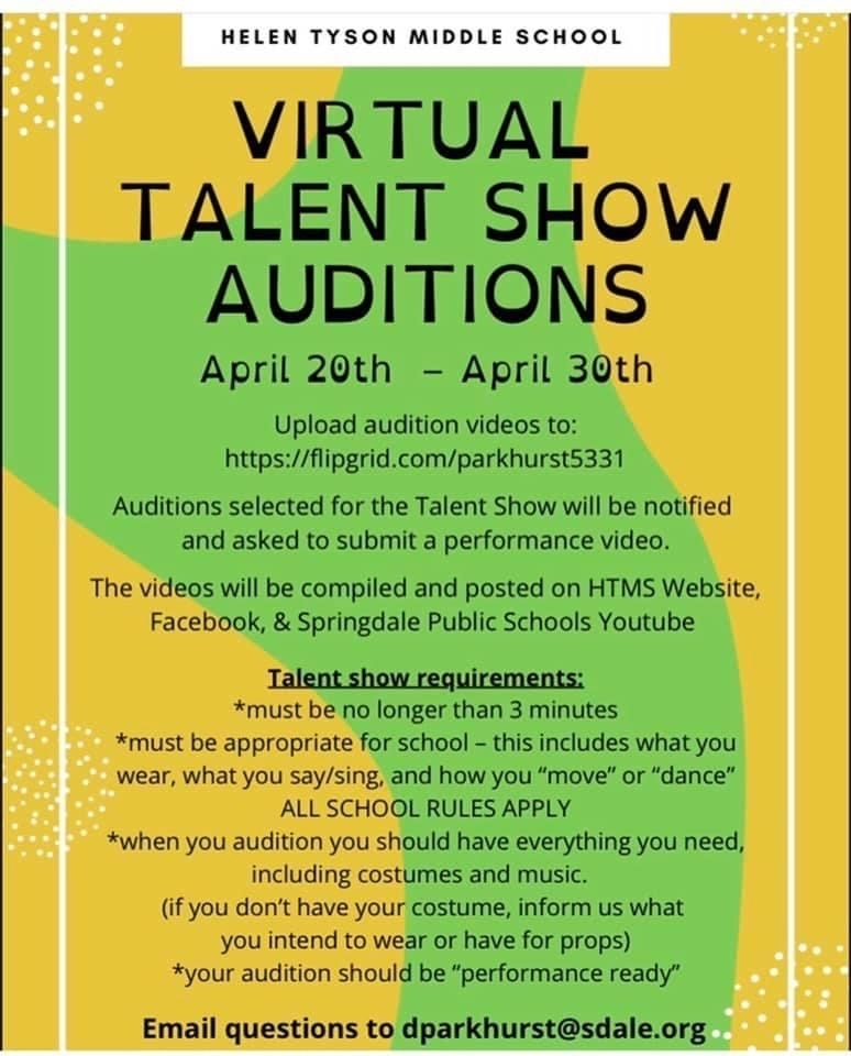 HTMS VIRTUAL TALENT SHOW AUDITIONS