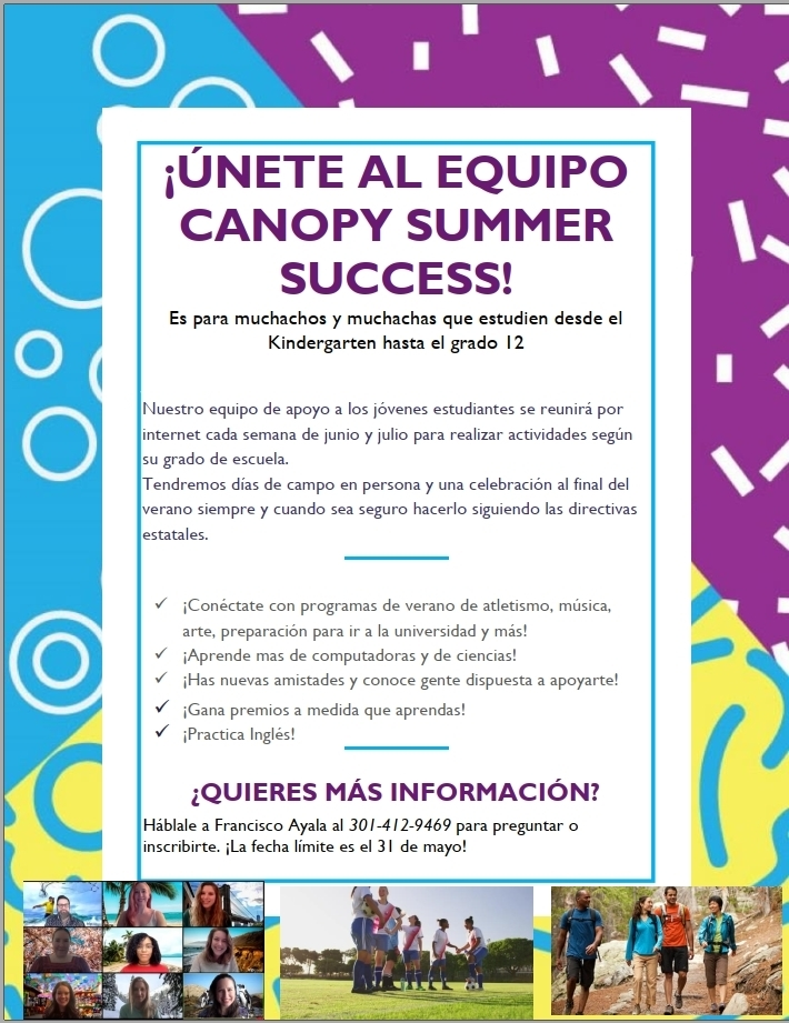Canopy Summer Success Team - Spanish