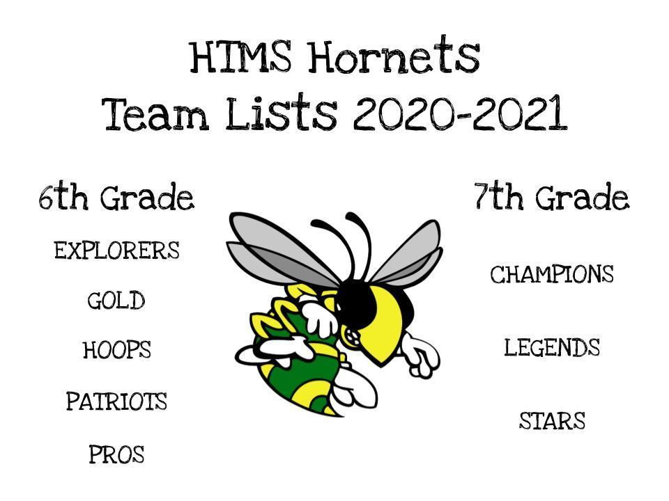 20-21  HTMS Team Lists