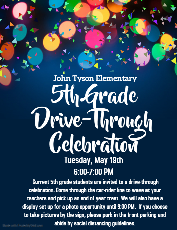JTE - 5th Grade Drive-Through Celebration