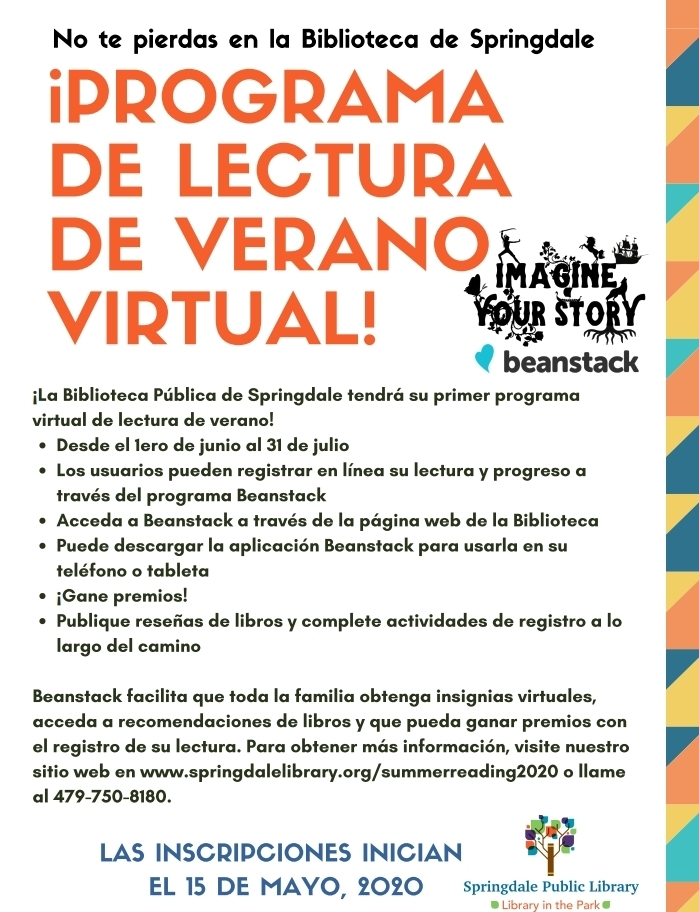 Virtual Summer Reading Program - Spanish version