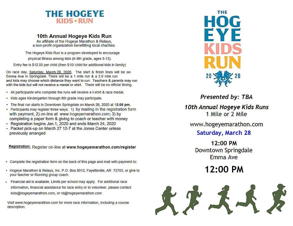 Hogeye Kids Run flyer page 1