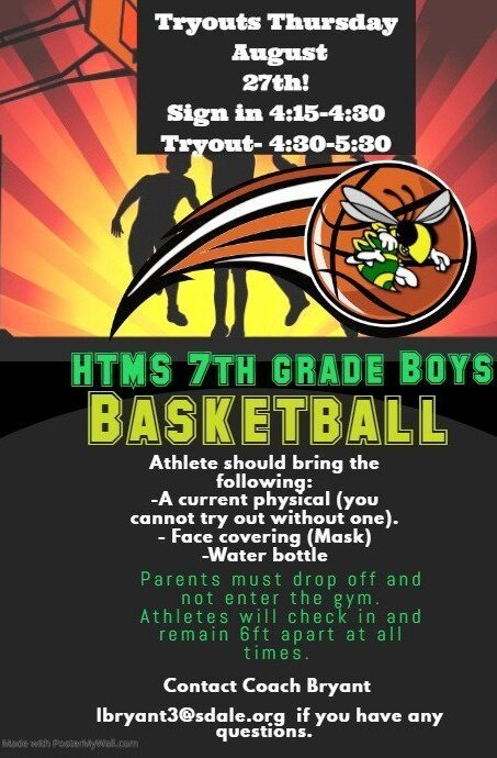 HTMS 7th Grade Boys' Basketball Tryouts