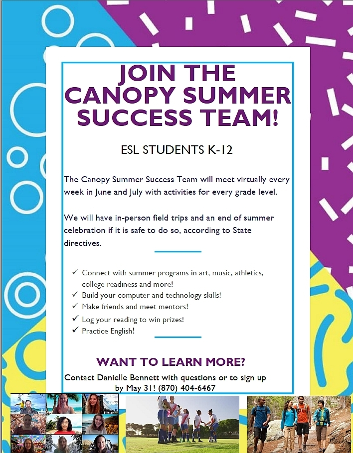 Canopy Summer Success Team - English