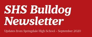 SHS Bulldog Newsletter - September 2020