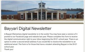 Bayyari Digital Newsletter Sign Up