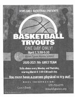 HTMS Girls Basketball Tryouts