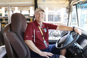 "Ariola Says Driving School Bus Is ""The Best Job I've Ever Had."""