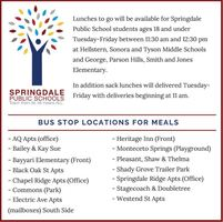 Bus Stop Locations for Meals