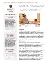 U of A Clinic for Literacy flyer page 1