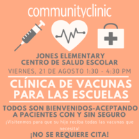 Back to School Vaccine Clinic - Spanish version