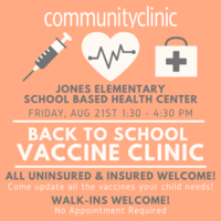 Vaccine Clinic, Friday, August 21
