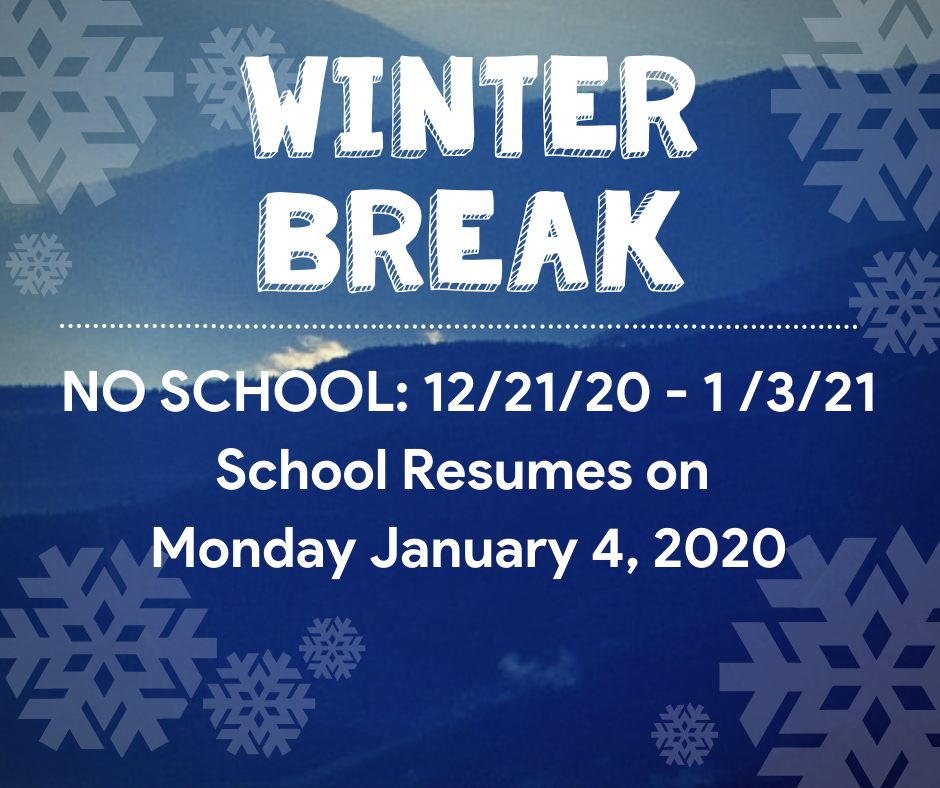 Happy Holidays, Gators! We love you and hope you have a great winter break! We will see you on Monday, January 4th!