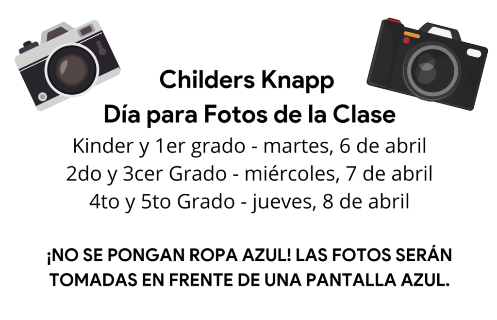 Class picture days are coming! See the pictures for more information!