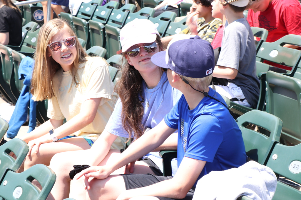 Hellstern students at Arvest Ballpark