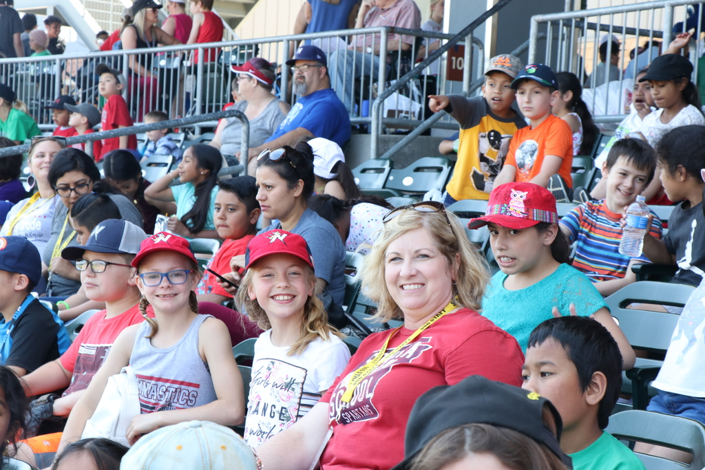 Turnbow students at Arvest Ballpark