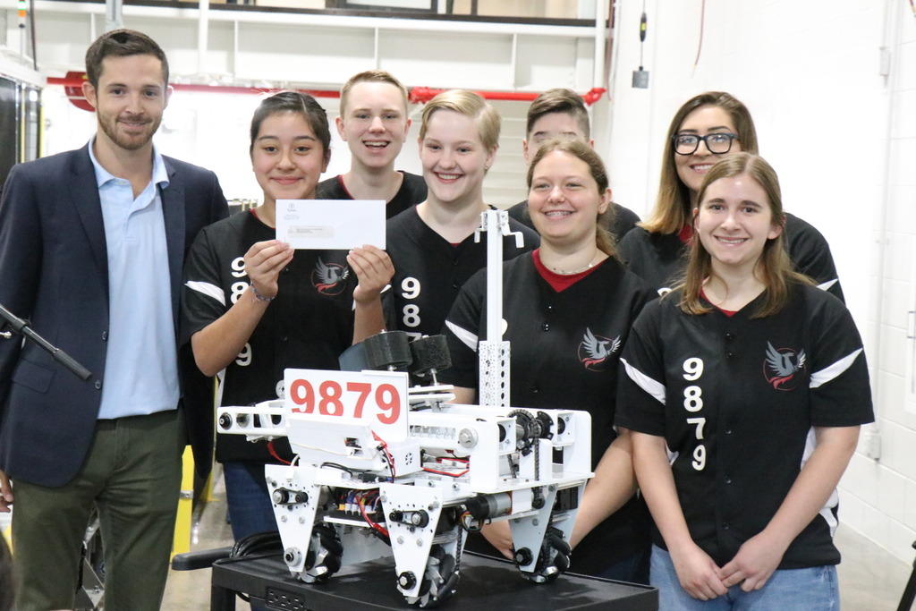 Tyson Check to DTSOI Robotics Team