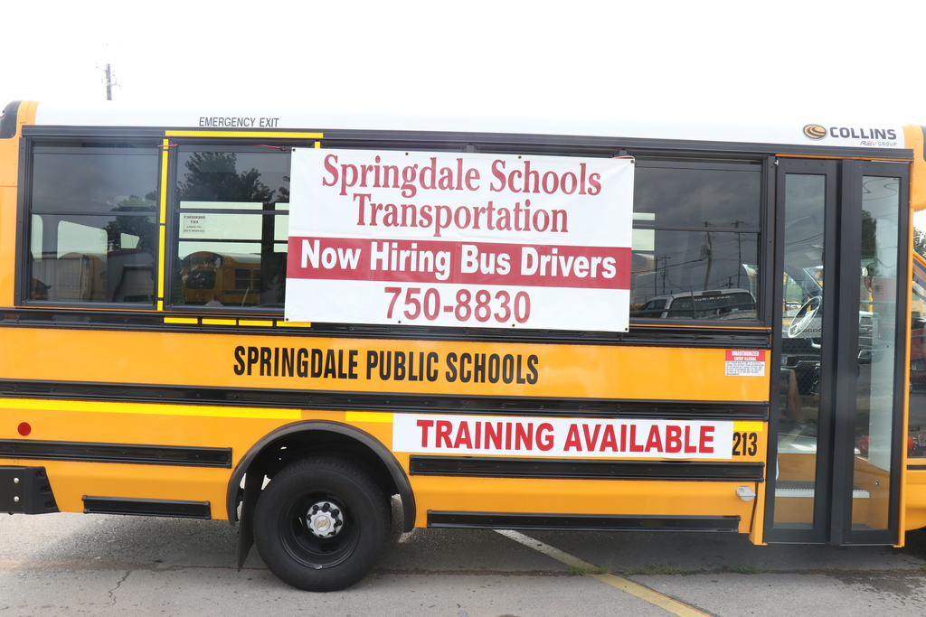 Springdale is hiring bus drivers