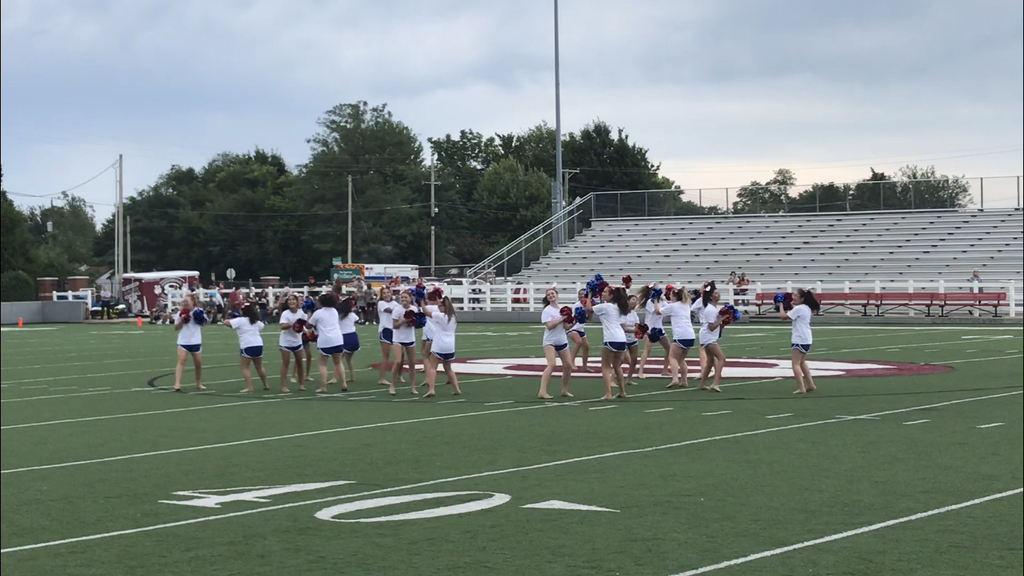 GJHS Cheer/Dance performs at Pigskin Preview.