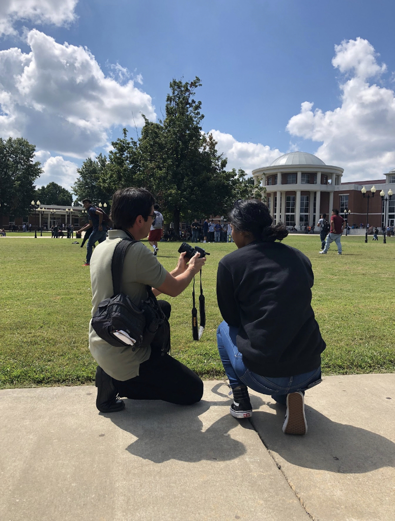 SHS Journalism students for a photography lesson from Anthony Reyes, photographer and Online Editor for the Northwest Arkansas Democrat Gazette