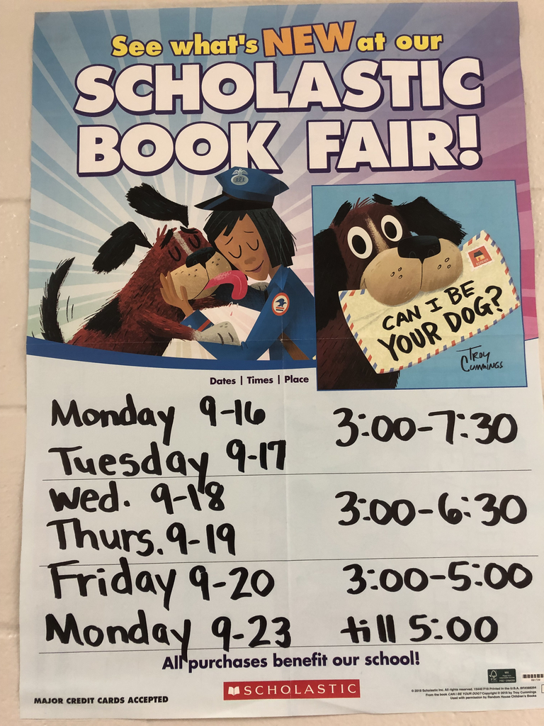 Book fair dates and times.