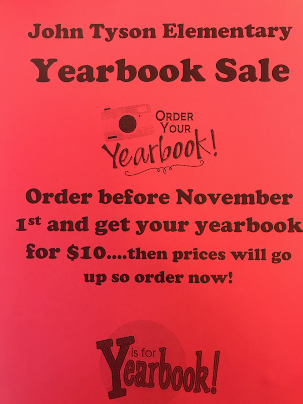Yearbooks are for sale.
