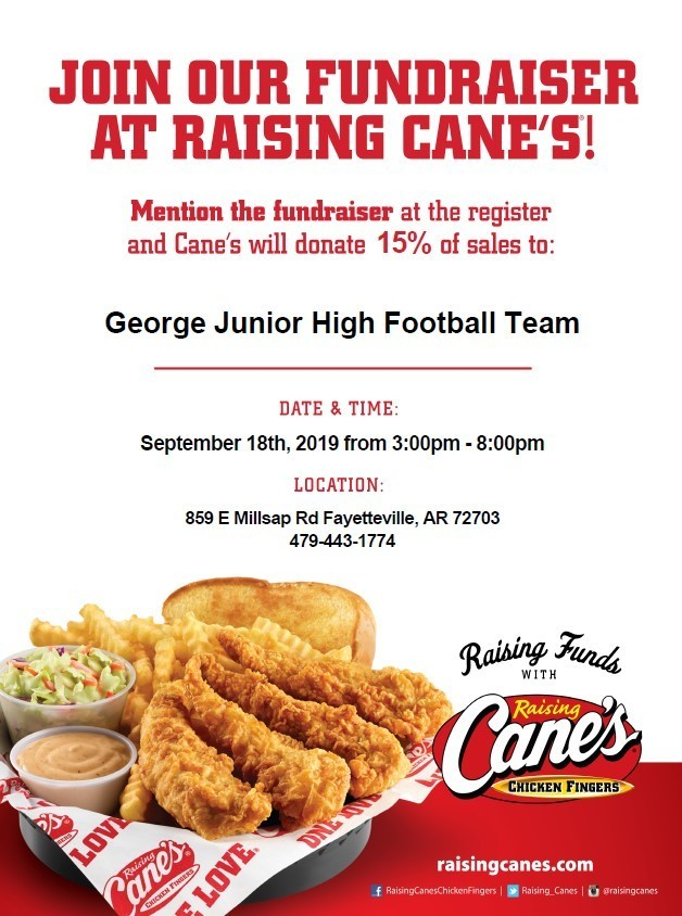 Raising Cane's Football Fundraiser