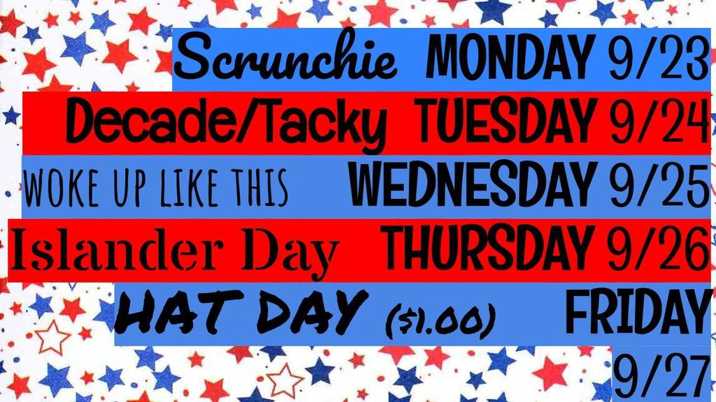 Spirit Week Days