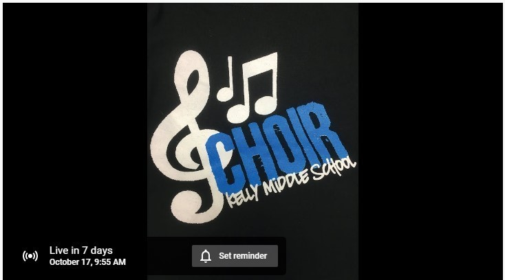 Mark your calendar - 7th Grade Select Choir for October 17th!