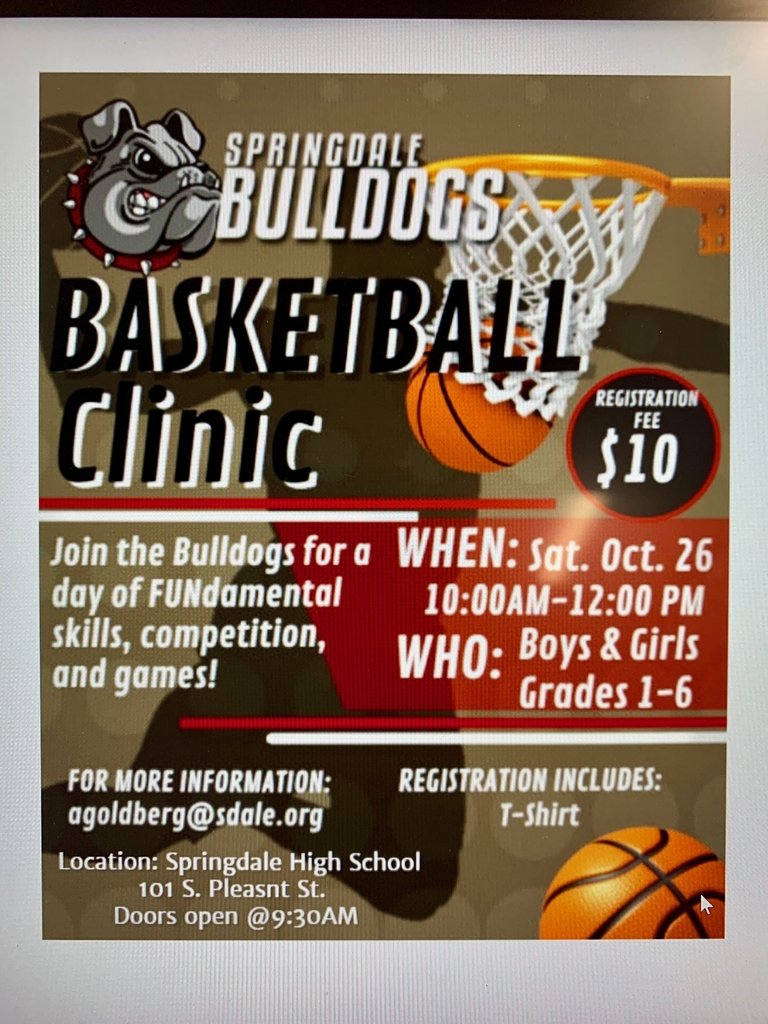 Bulldog Basketball Clinic October 26th!
