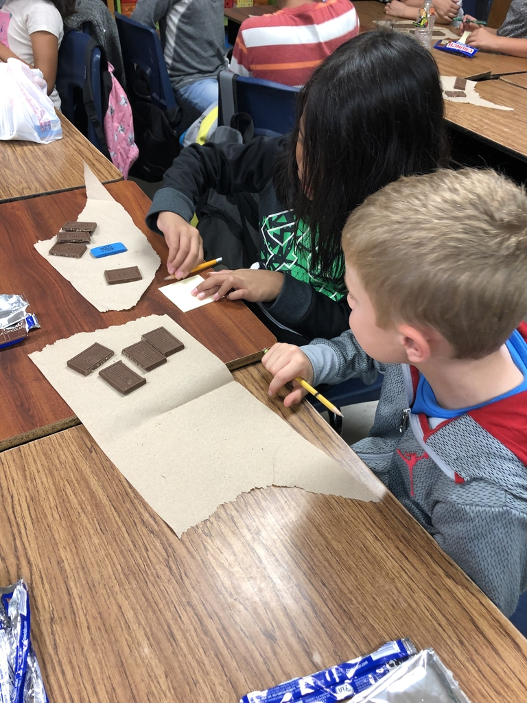 Fractions using chocolate