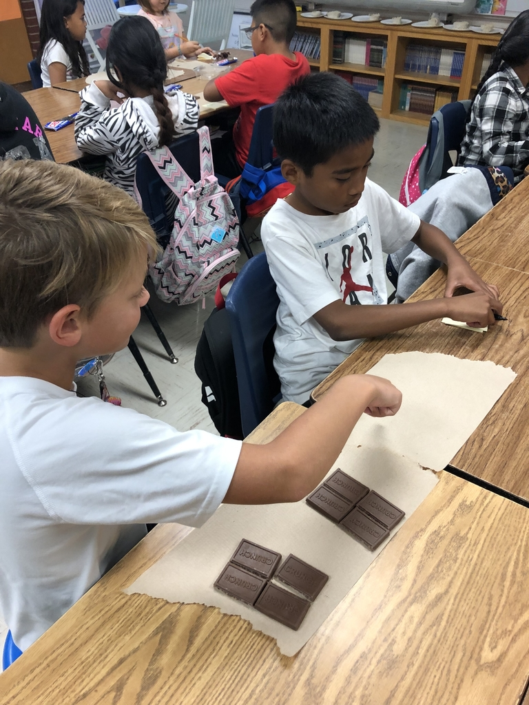 Discussing fractions using chocolate