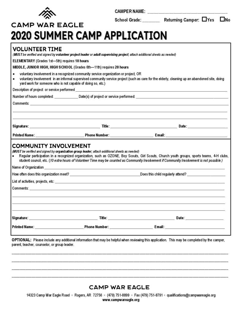 English-War Eagle Application