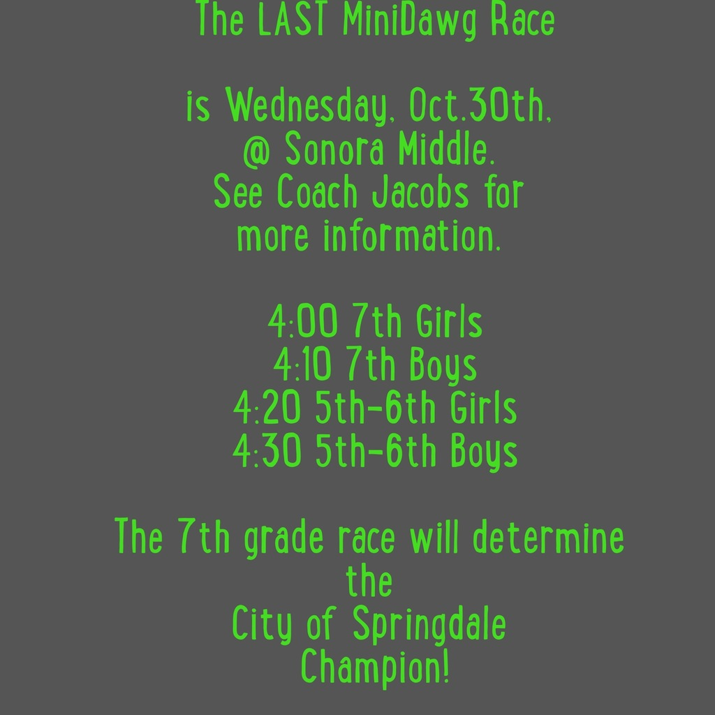 The Last MiniDawg Race