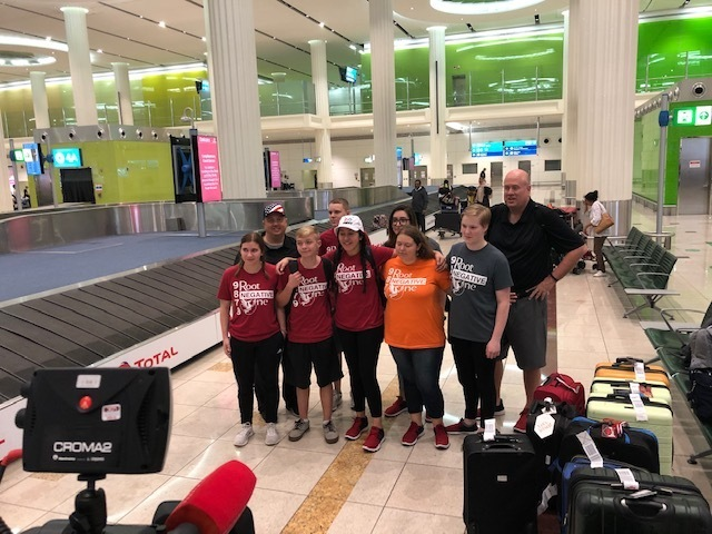 DTSOI robotics team arrives in Dubai