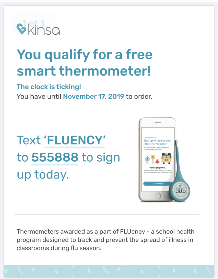 Free thermometer