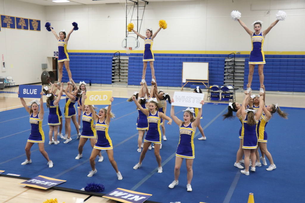 Central JH cheer, school board