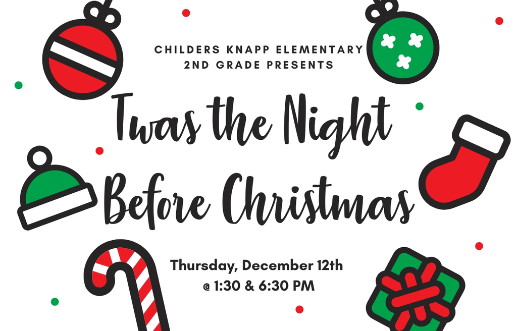 2nd grade program December 12 @ 1:30 & 6:30PM