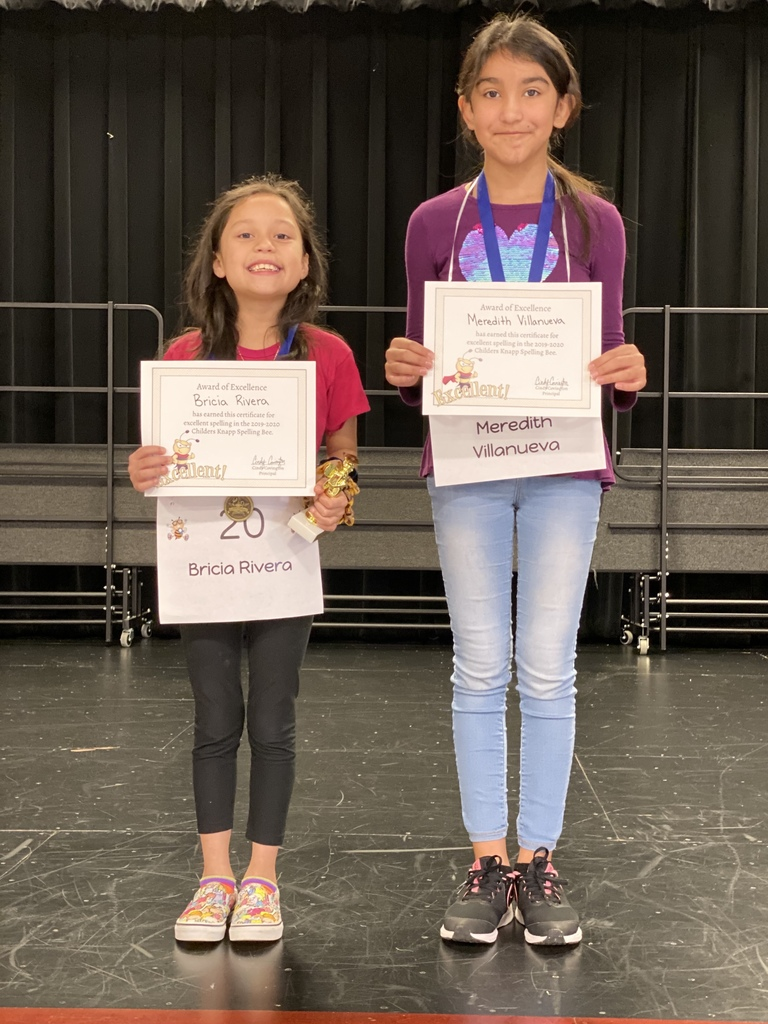 2019-2020 Spelling Bee winner and runner up