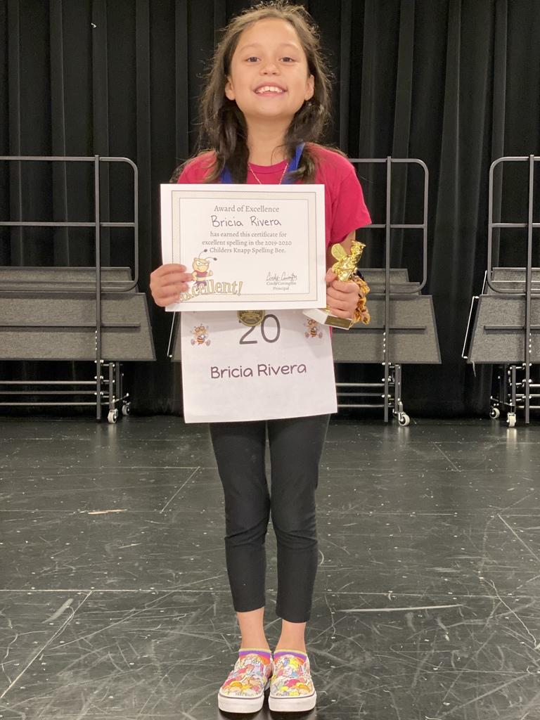 2019-2020 Spelling Bee Winner