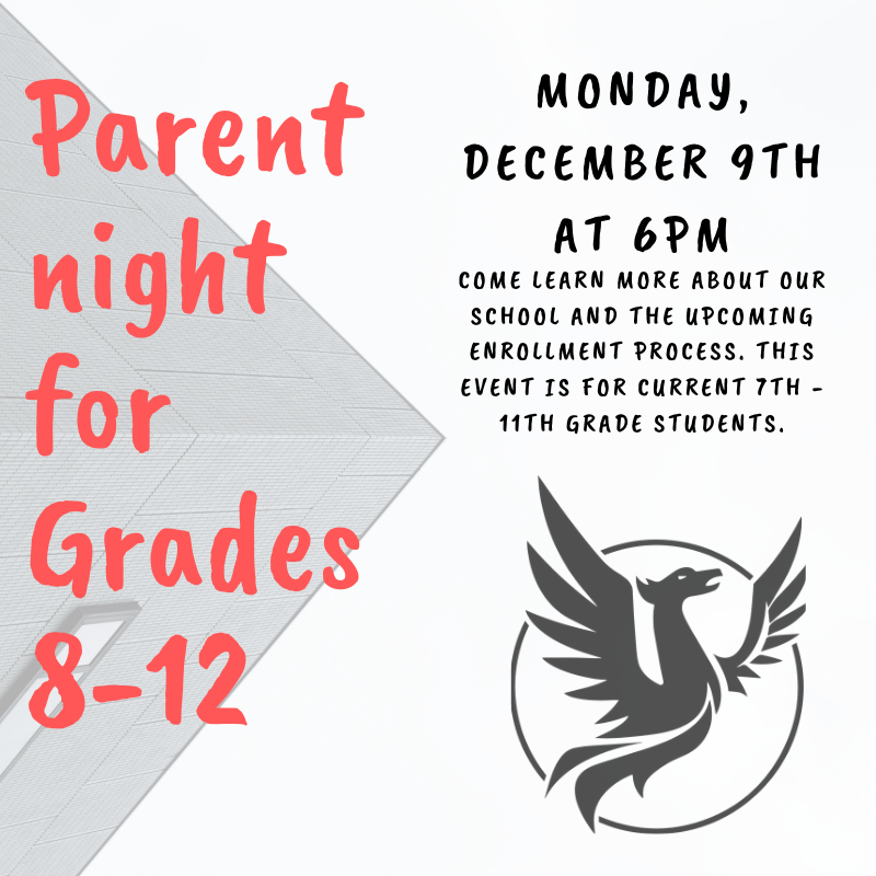 Parent Night Flyer