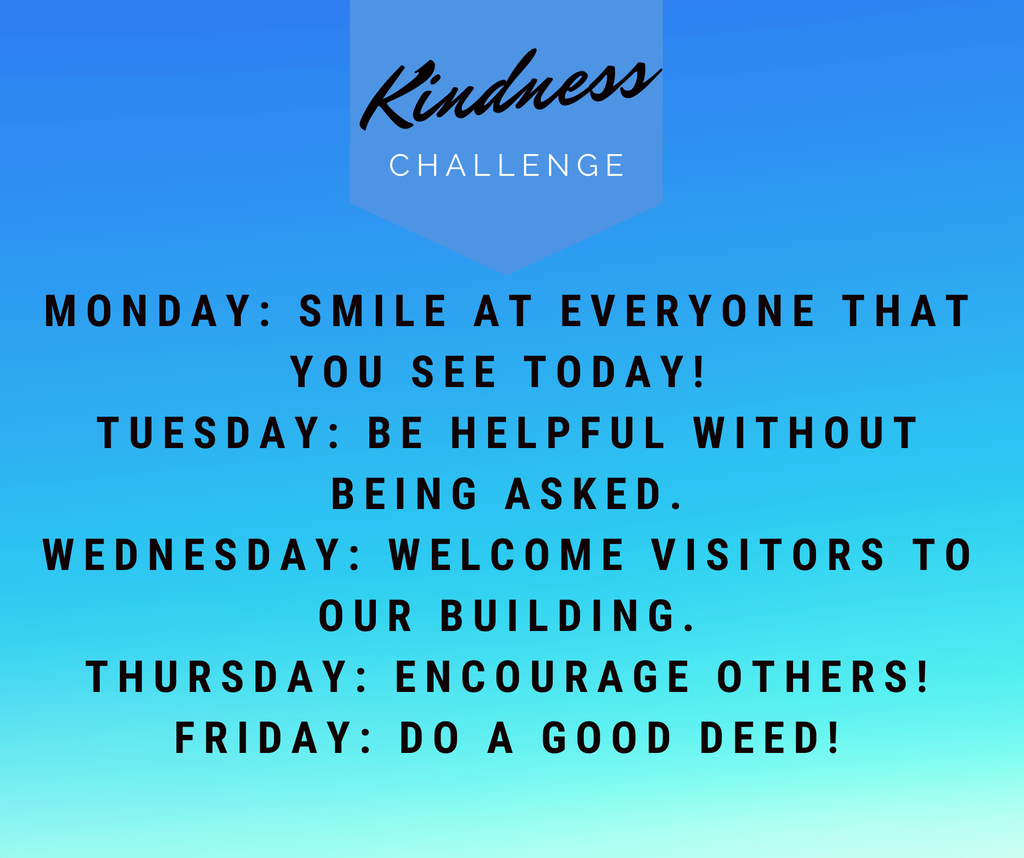 This week is Kindness Week.