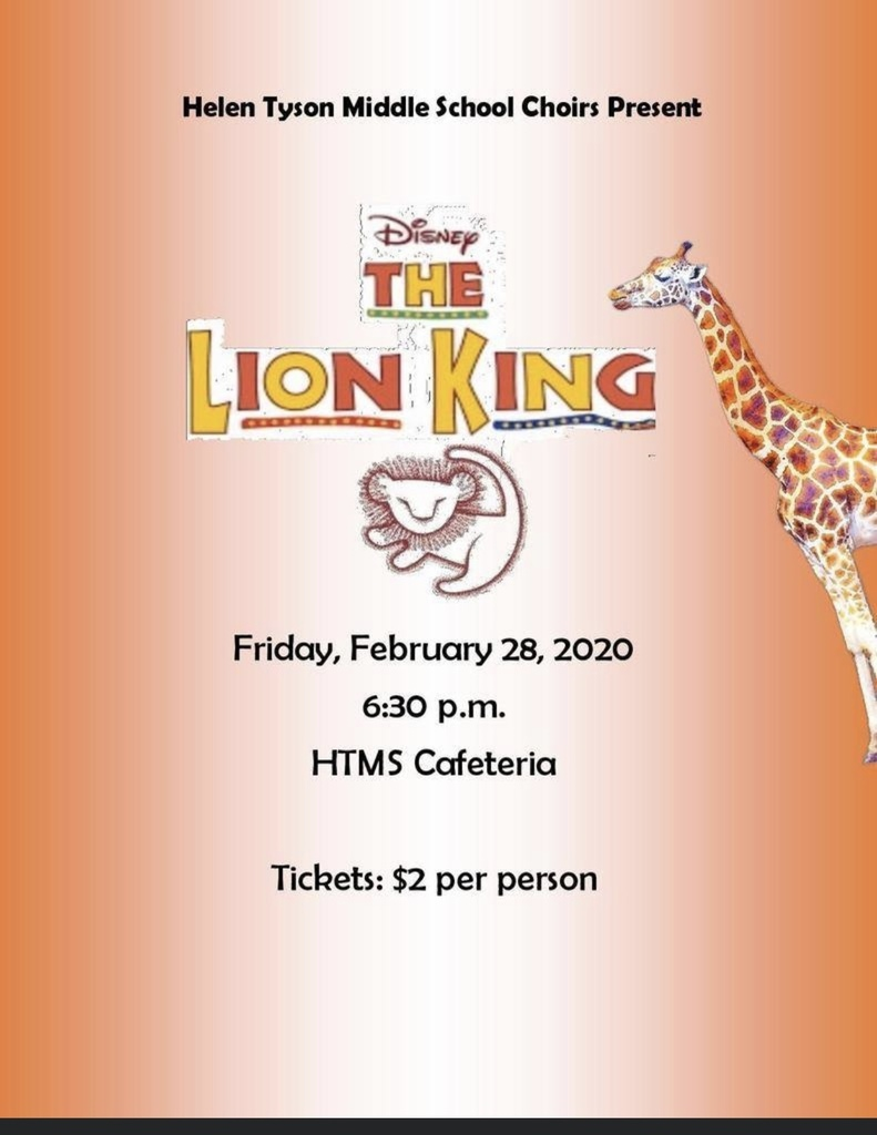 Tyson Middle School, The Lion King