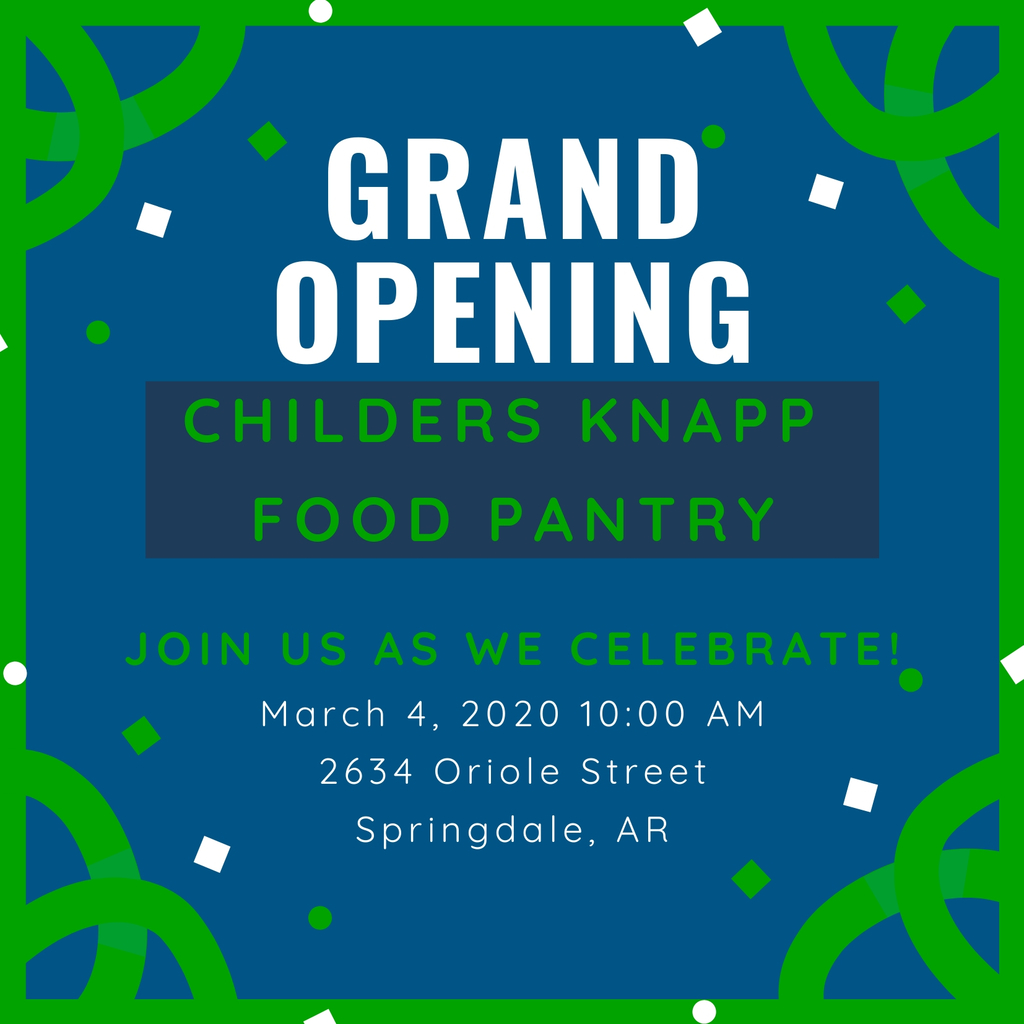 Please join us for the grand opening of our CKE Little Food Pantry on Wednesday, March 4th at 10:00 AM.