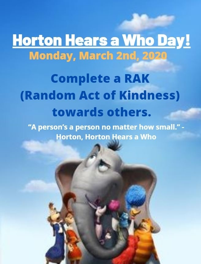 Horton Hears a Who Day!