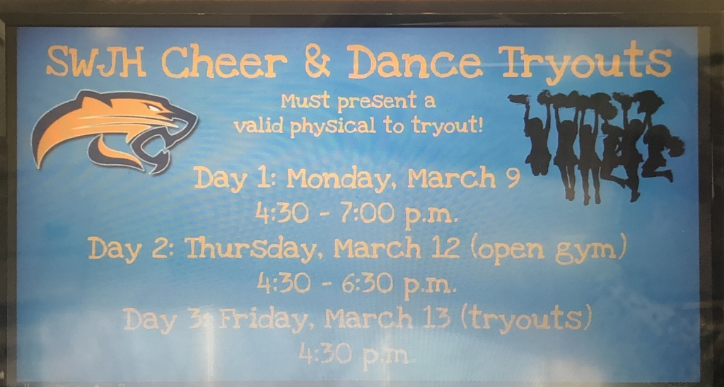 Dates for tryouts @ SWJH