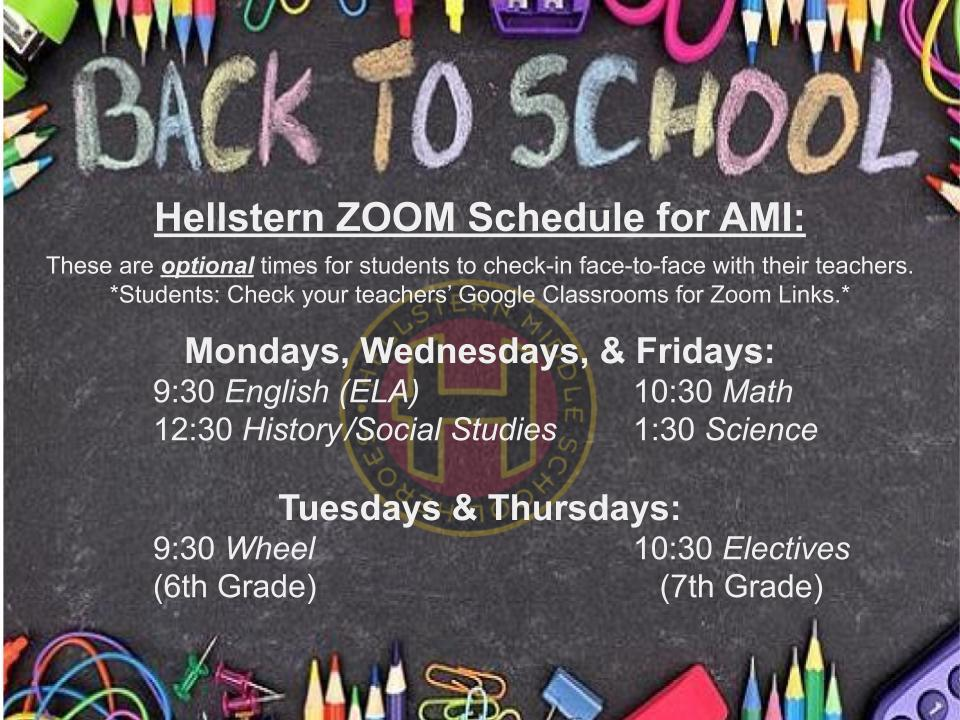 Zoom Schedules